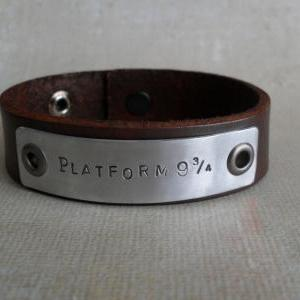 Personalized Men's Leather Bracelet..