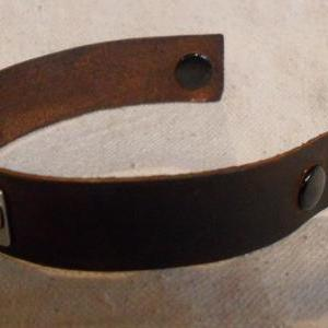 Men's Leather Bracelet Longitude La..