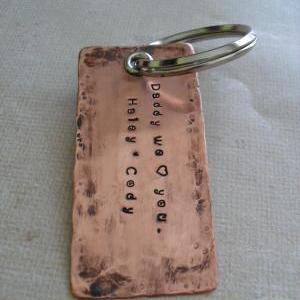 Personalized Father's Keychain Dad ..