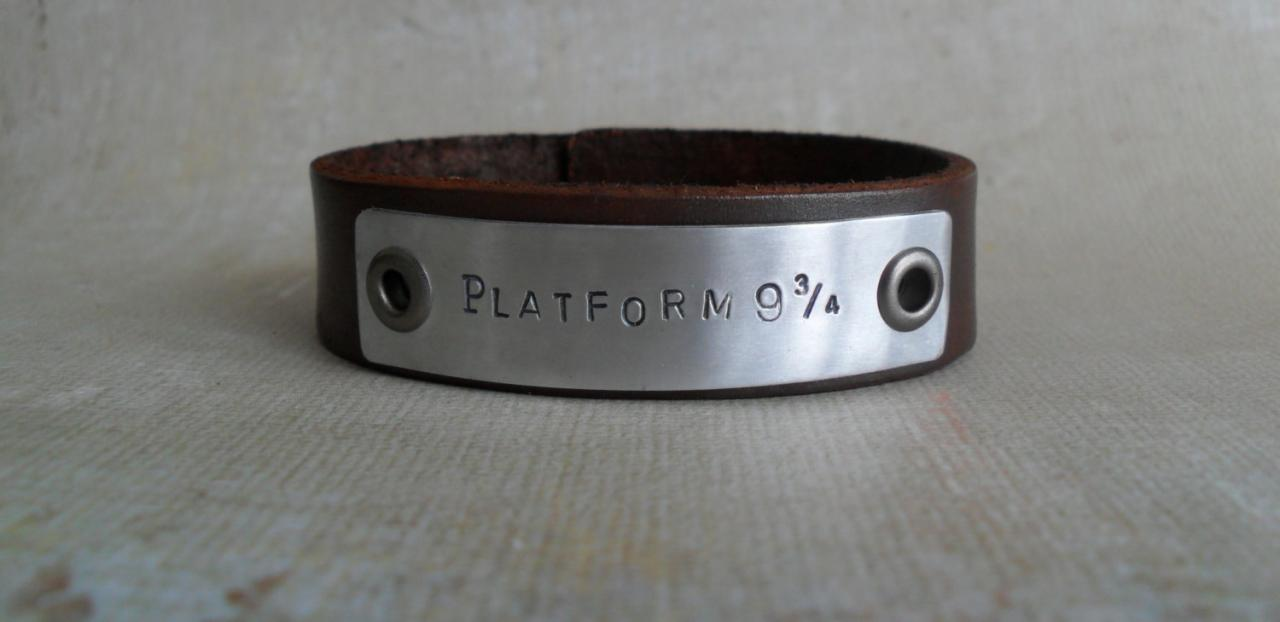 Personalized Men's Leather Bracelet Custom Bracelet YOU Design It